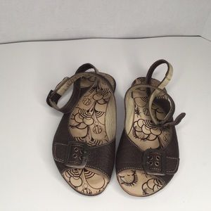 Fly London flat leather sandals.